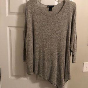 Grey, 3/4 sleeve sweater